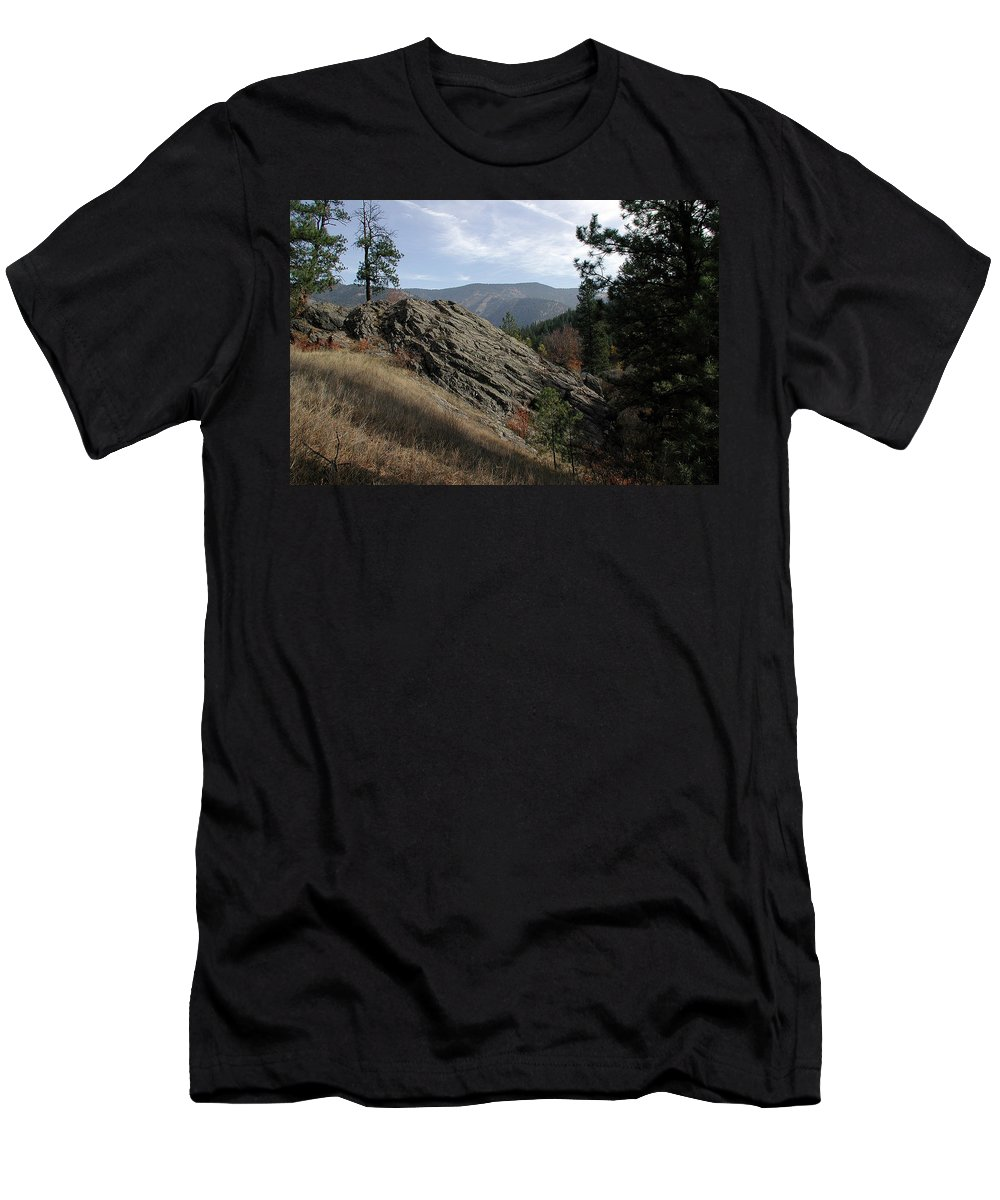 Montana Men's T-Shirt (Athletic Fit) featuring the photograph Montana - Wilderness by D'Arcy Evans
