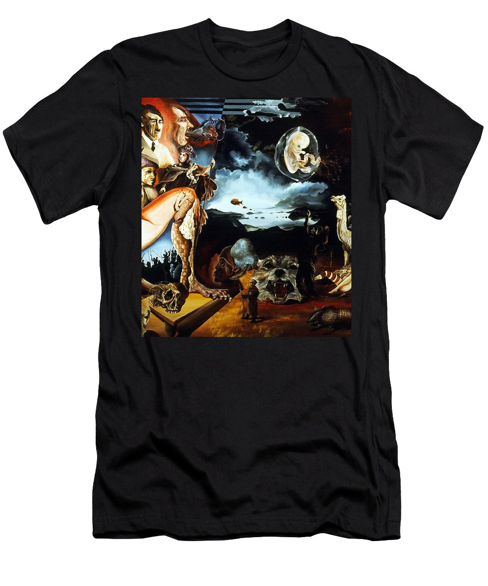 War T-Shirt featuring the painting Monument To The Unborn War Hero by Otto Rapp