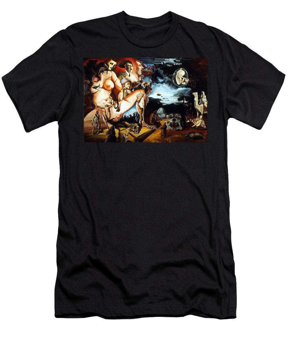 War Men's T-Shirt (Athletic Fit) featuring the painting Monument To The Unborn War Hero by Otto Rapp