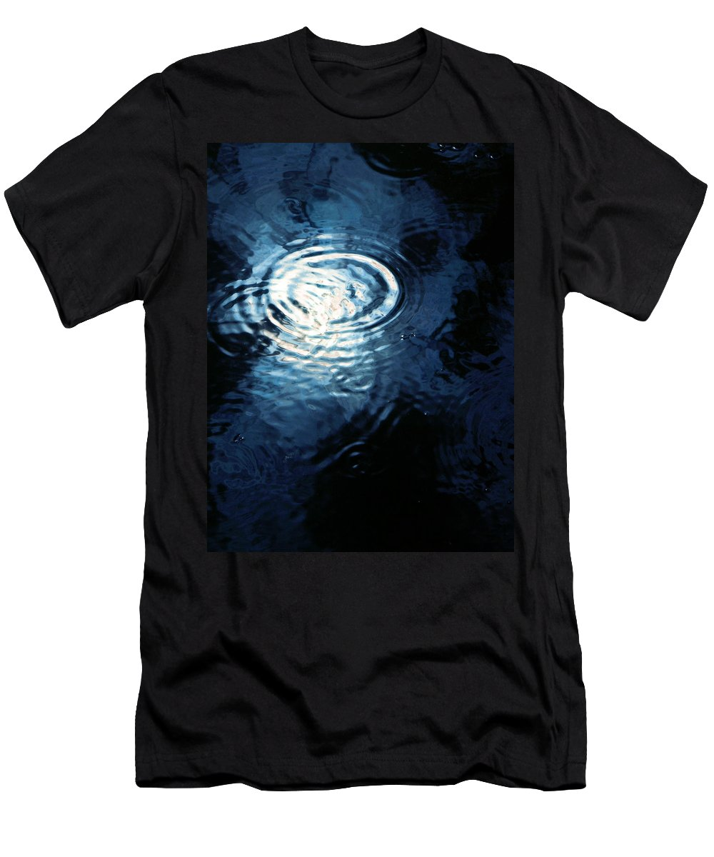 Moon Men's T-Shirt (Athletic Fit) featuring the photograph Moon In The Water by Francesa Miller