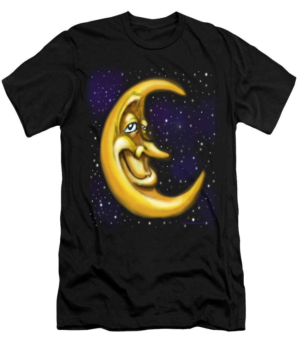 Moon Men's T-Shirt (Athletic Fit) featuring the painting Moon by Kevin Middleton
