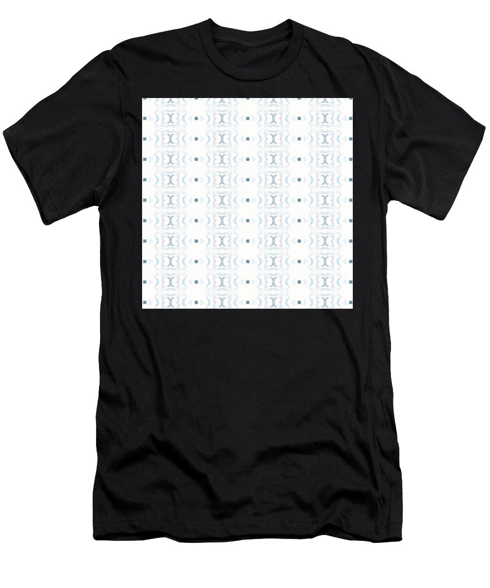 Abstract Men's T-Shirt (Athletic Fit) featuring the painting Moon Lit Path by Olivia Meadows