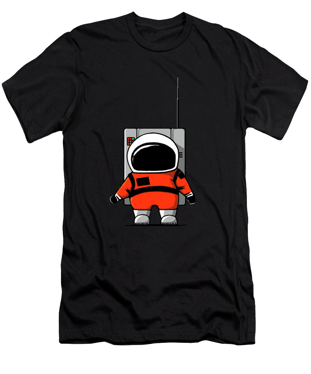 Ink-pen Men's T-Shirt (Athletic Fit) featuring the digital art Moon Man by Nicholas Ely