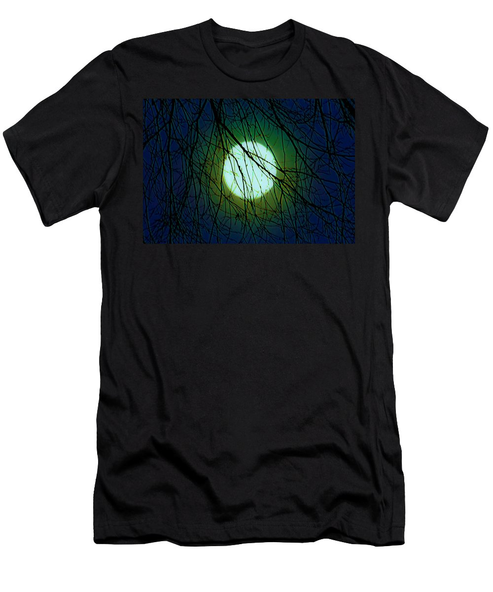 Moon Men's T-Shirt (Athletic Fit) featuring the digital art Moon Of The Werewolf by DigiArt Diaries by Vicky B Fuller