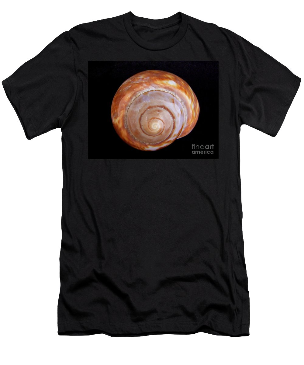 Mary Deal Men's T-Shirt (Athletic Fit) featuring the photograph Moon Shell by Mary Deal