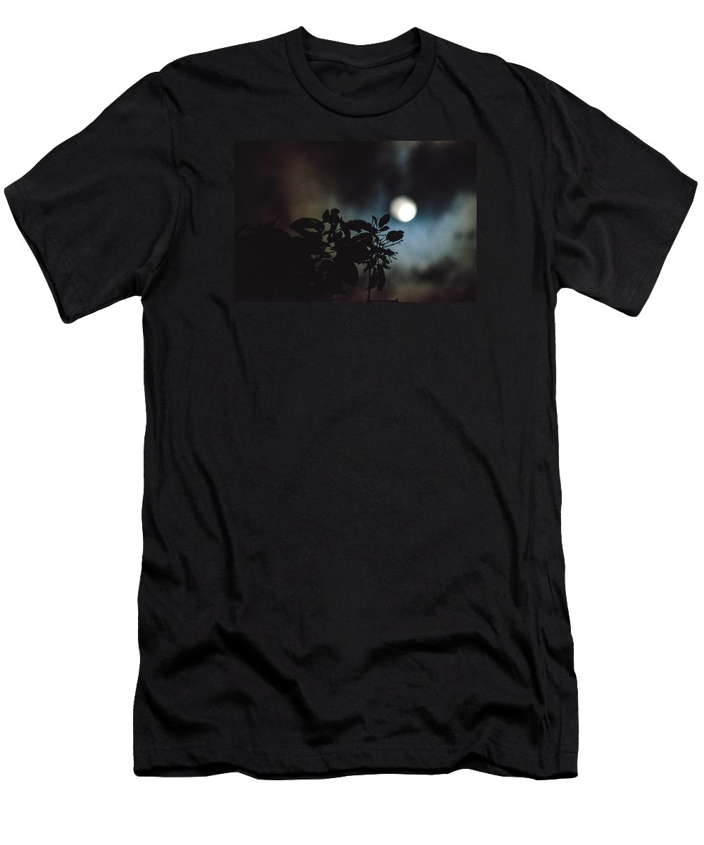 Full Moon Men's T-Shirt (Athletic Fit) featuring the photograph Moonlight And Tree 2 by Totto Ponce