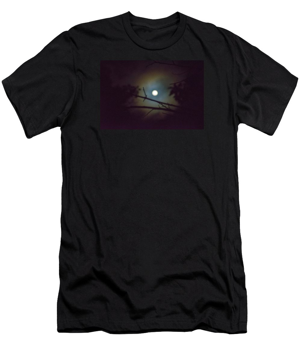 The Moon Men's T-Shirt (Athletic Fit) featuring the photograph Moonlight And Tree 3 by Totto Ponce