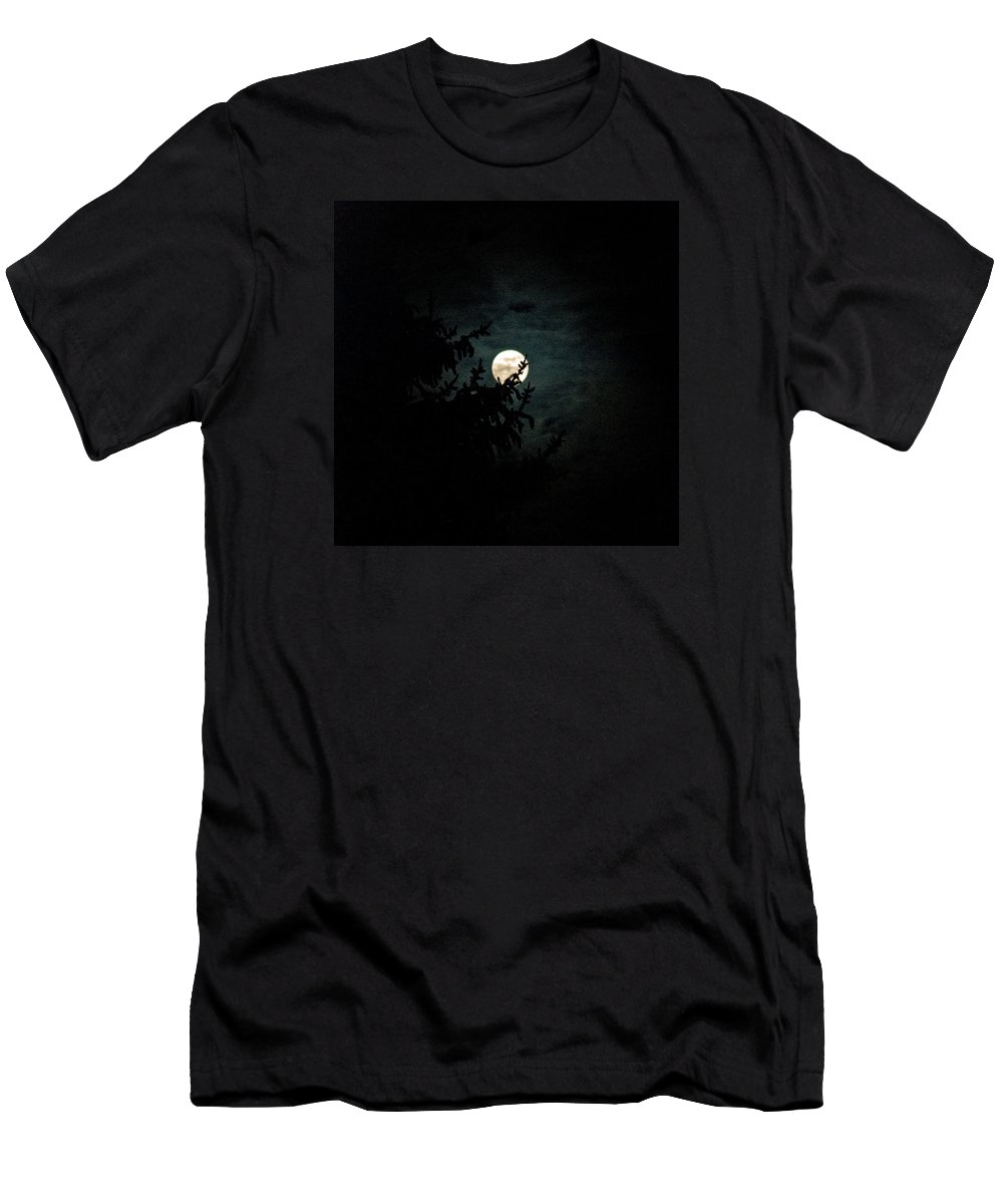 Men's T-Shirt (Athletic Fit) featuring the photograph Moonlight by Carol Eliassen
