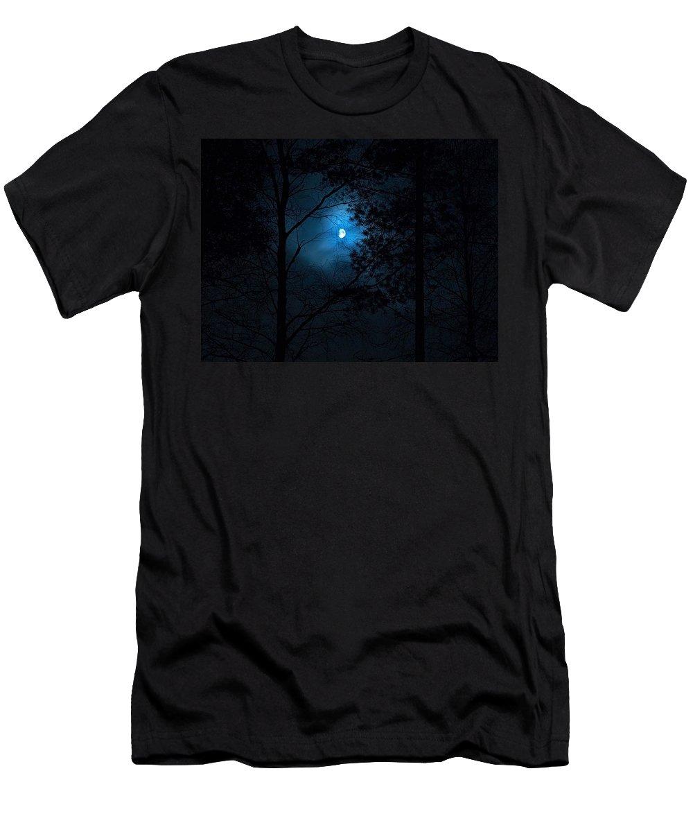 Lehtokukka Men's T-Shirt (Athletic Fit) featuring the photograph Moonshine 02 by Jouko Lehto