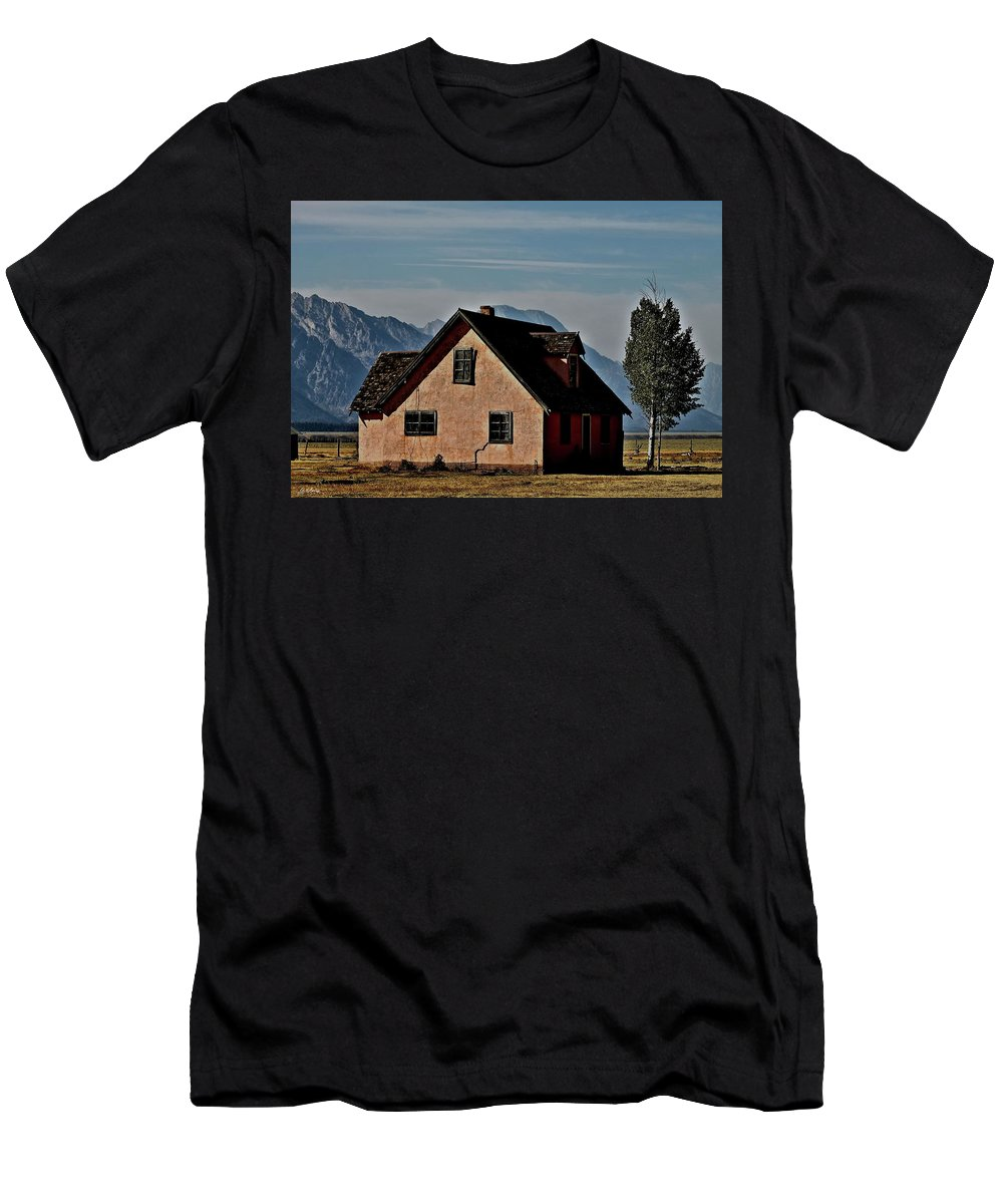 Mormon Row Men's T-Shirt (Athletic Fit) featuring the photograph Mormon Row by G Berry