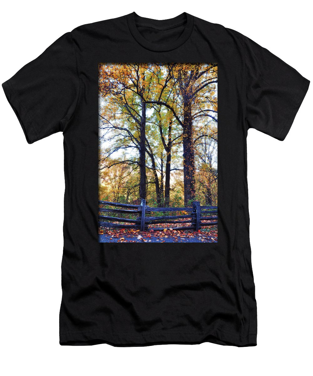 Smokey Mountain Men's T-Shirt (Athletic Fit) featuring the photograph Morning by Brittany Horton