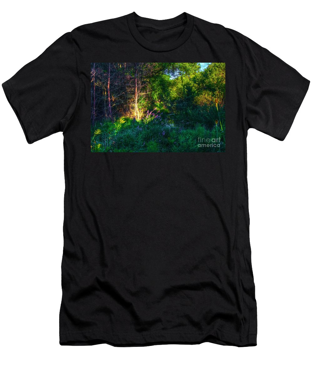Abstract Men's T-Shirt (Athletic Fit) featuring the photograph Morning Color by Robert Pearson
