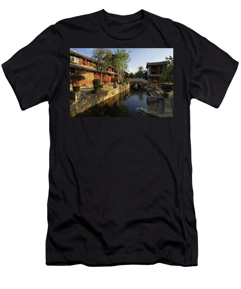 Asia T-Shirt featuring the photograph Morning Comes to Lijiang Ancient Town by Michele Burgess
