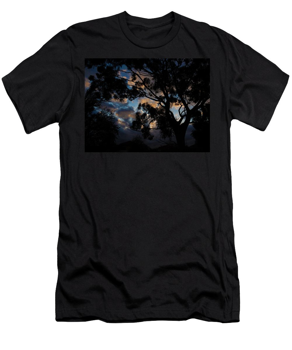 Tree Men's T-Shirt (Athletic Fit) featuring the photograph Morning Dragon by Mark Blauhoefer