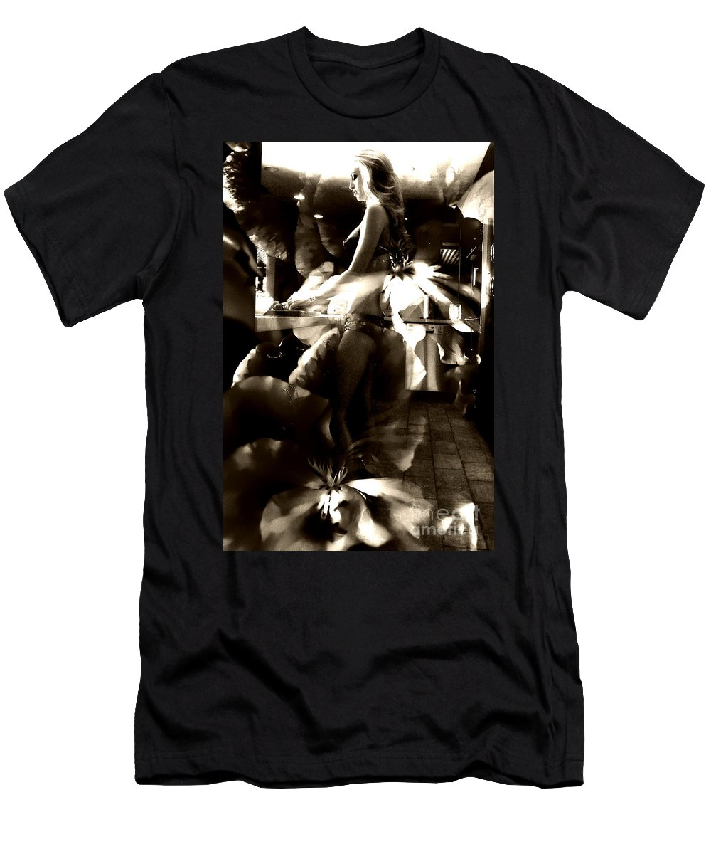 Clay Men's T-Shirt (Athletic Fit) featuring the photograph Morning Flower by Clayton Bruster