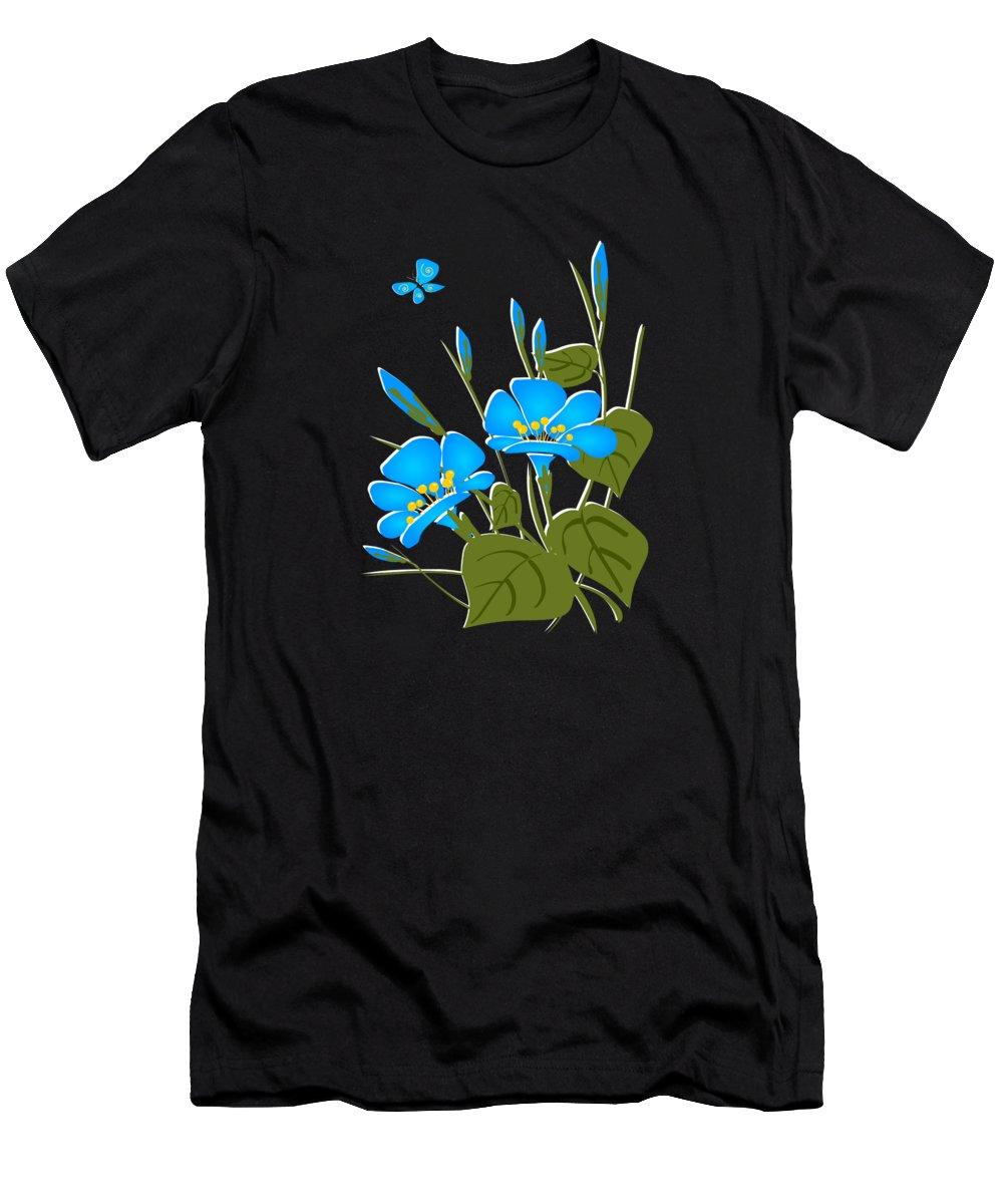 Plant Men's T-Shirt (Athletic Fit) featuring the digital art Morning Glory by Anastasiya Malakhova