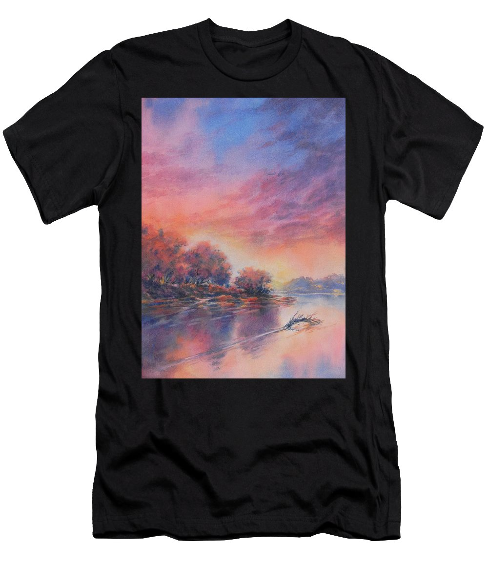 Texas T-Shirt featuring the painting Morning Glory No 1 by Virgil Carter