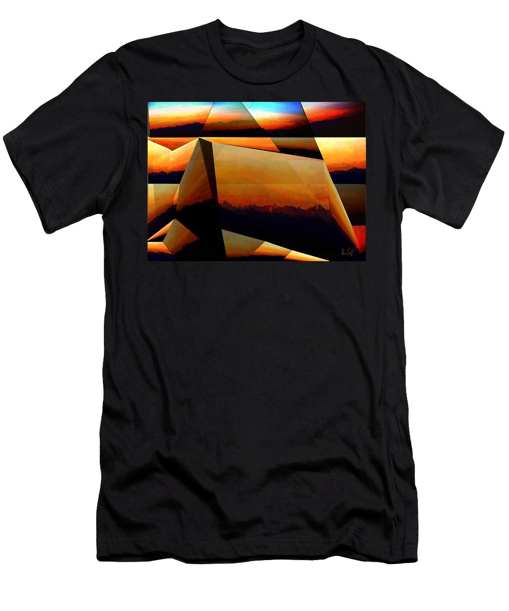 Alpen Men's T-Shirt (Athletic Fit) featuring the mixed media Morning In The Alps by Helmut Rottler