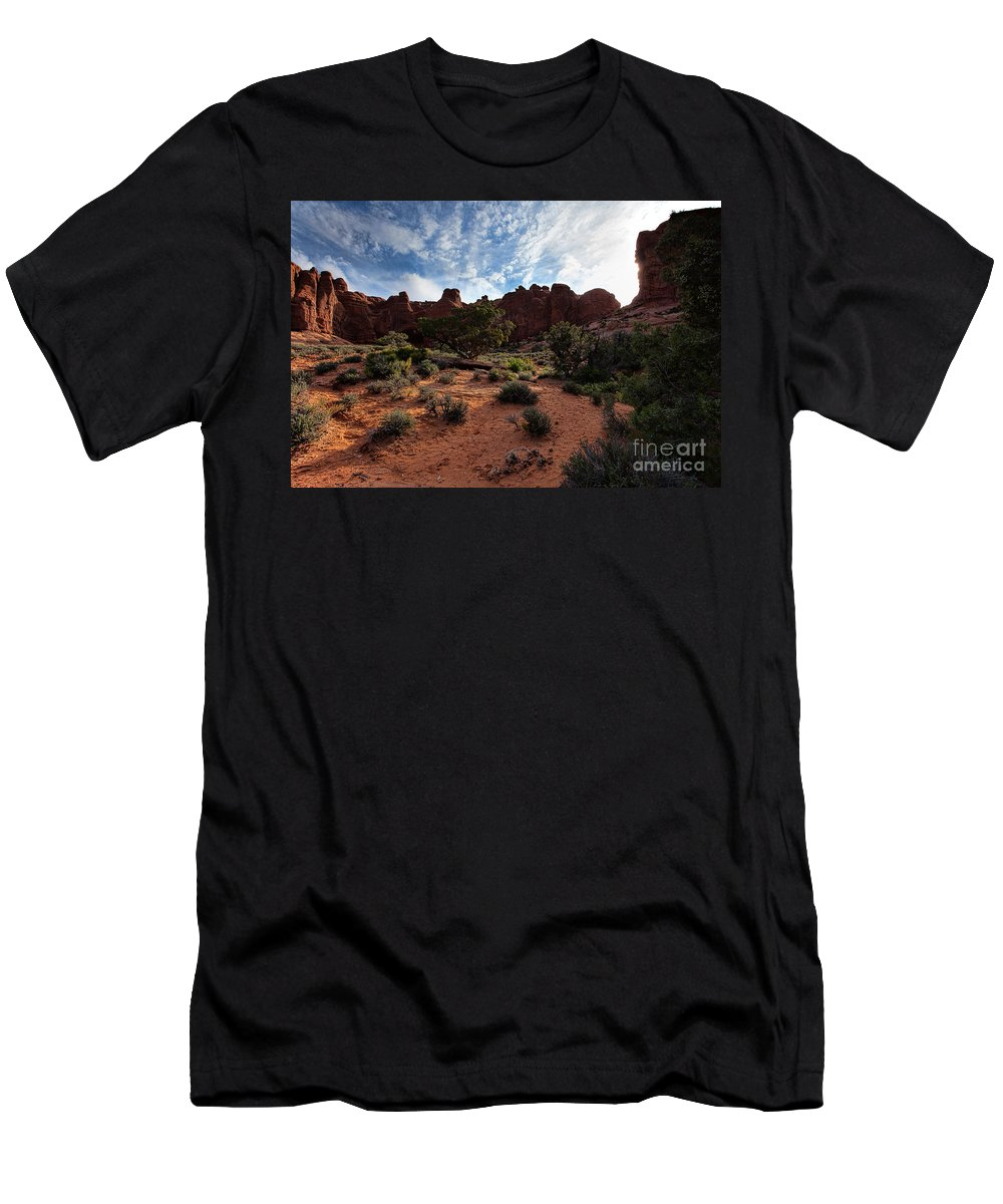 Utah Men's T-Shirt (Athletic Fit) featuring the photograph Morning Light by Jim Garrison