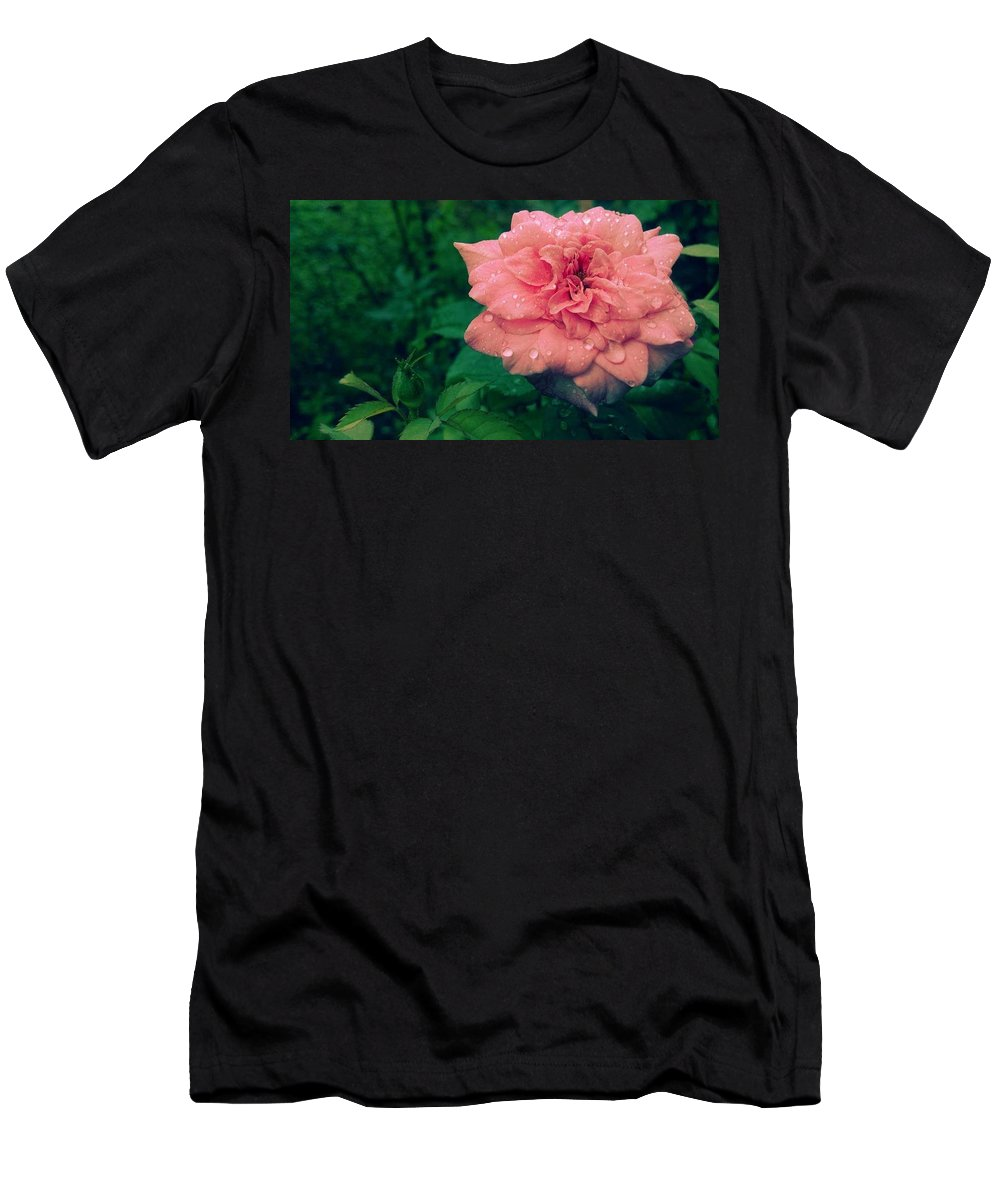 Rose Men's T-Shirt (Athletic Fit) featuring the photograph Morning Rose by Vipin K M