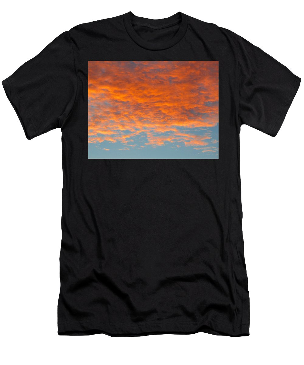 Sunrise Men's T-Shirt (Athletic Fit) featuring the photograph Morning Sky by Carl Miller