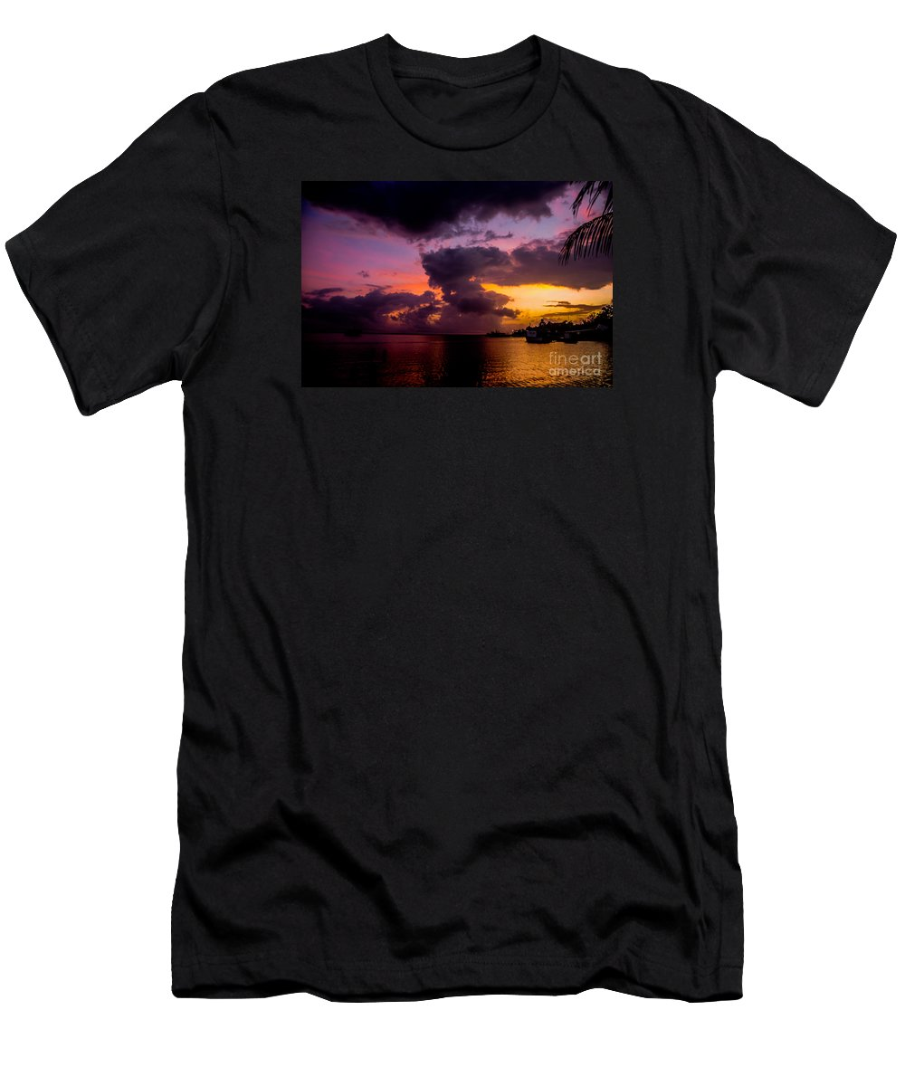 Caribbean Men's T-Shirt (Athletic Fit) featuring the photograph Morning by Van Scott