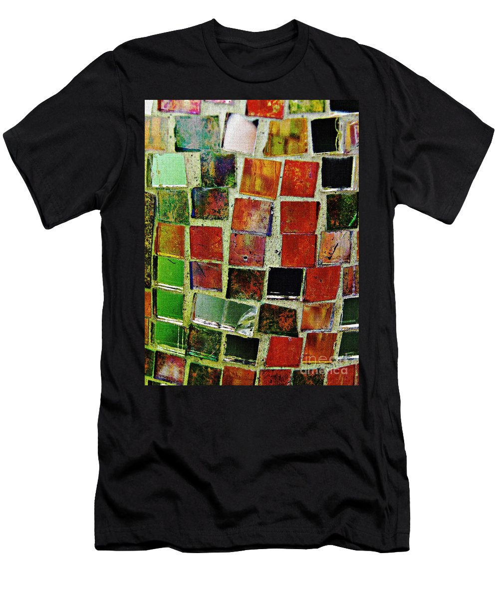 Tile Men's T-Shirt (Athletic Fit) featuring the photograph Mosaic 17 by Sarah Loft