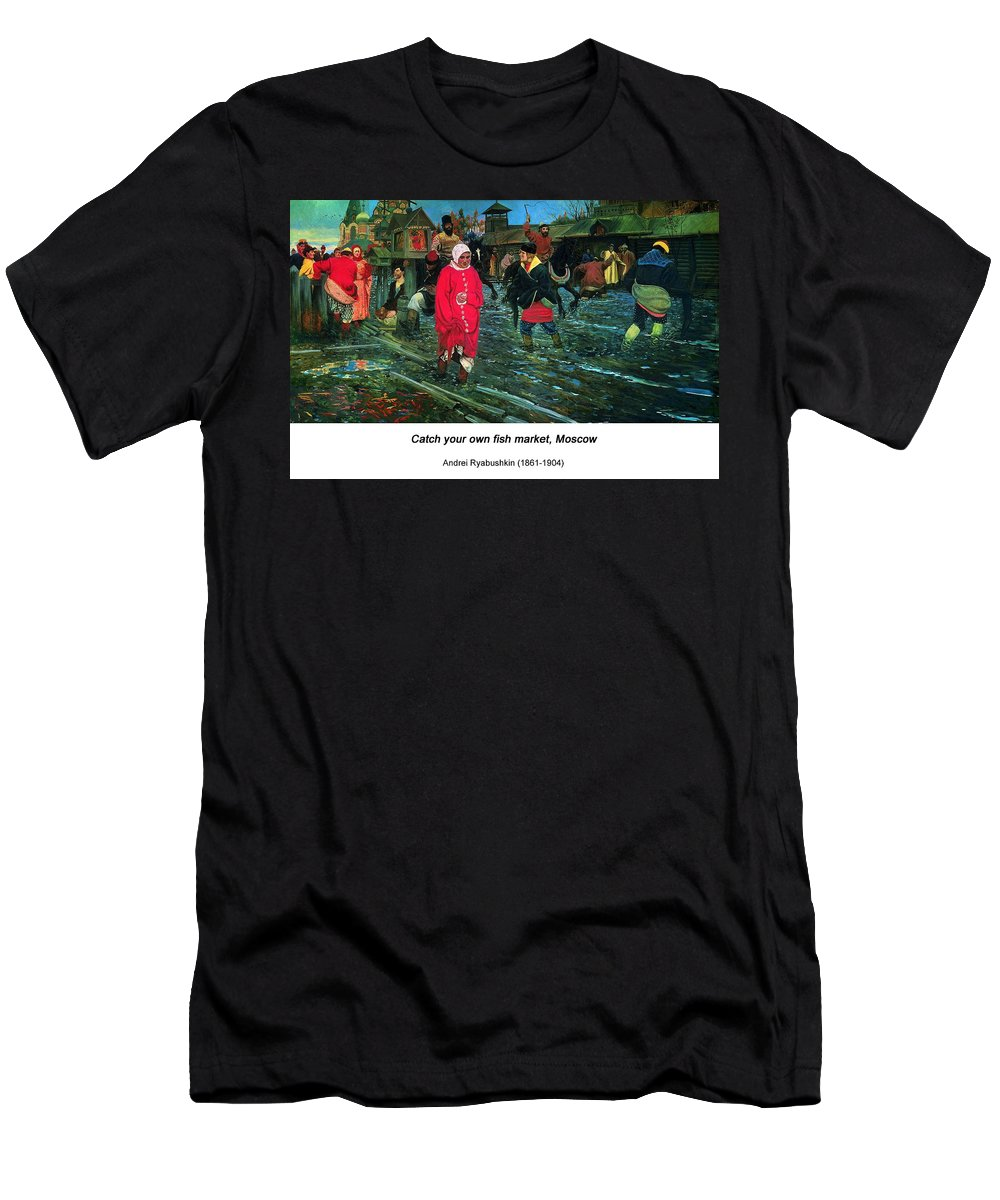 Altered Art Men's T-Shirt (Athletic Fit) featuring the digital art Moscow Street Of 17th Century by John Saunders