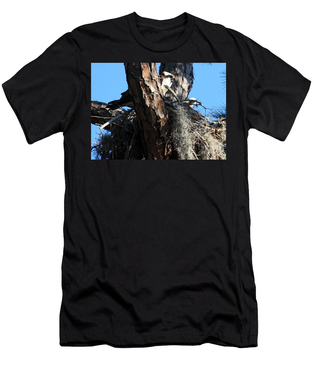 Nest Men's T-Shirt (Athletic Fit) featuring the photograph Moss Nest by Carol Groenen