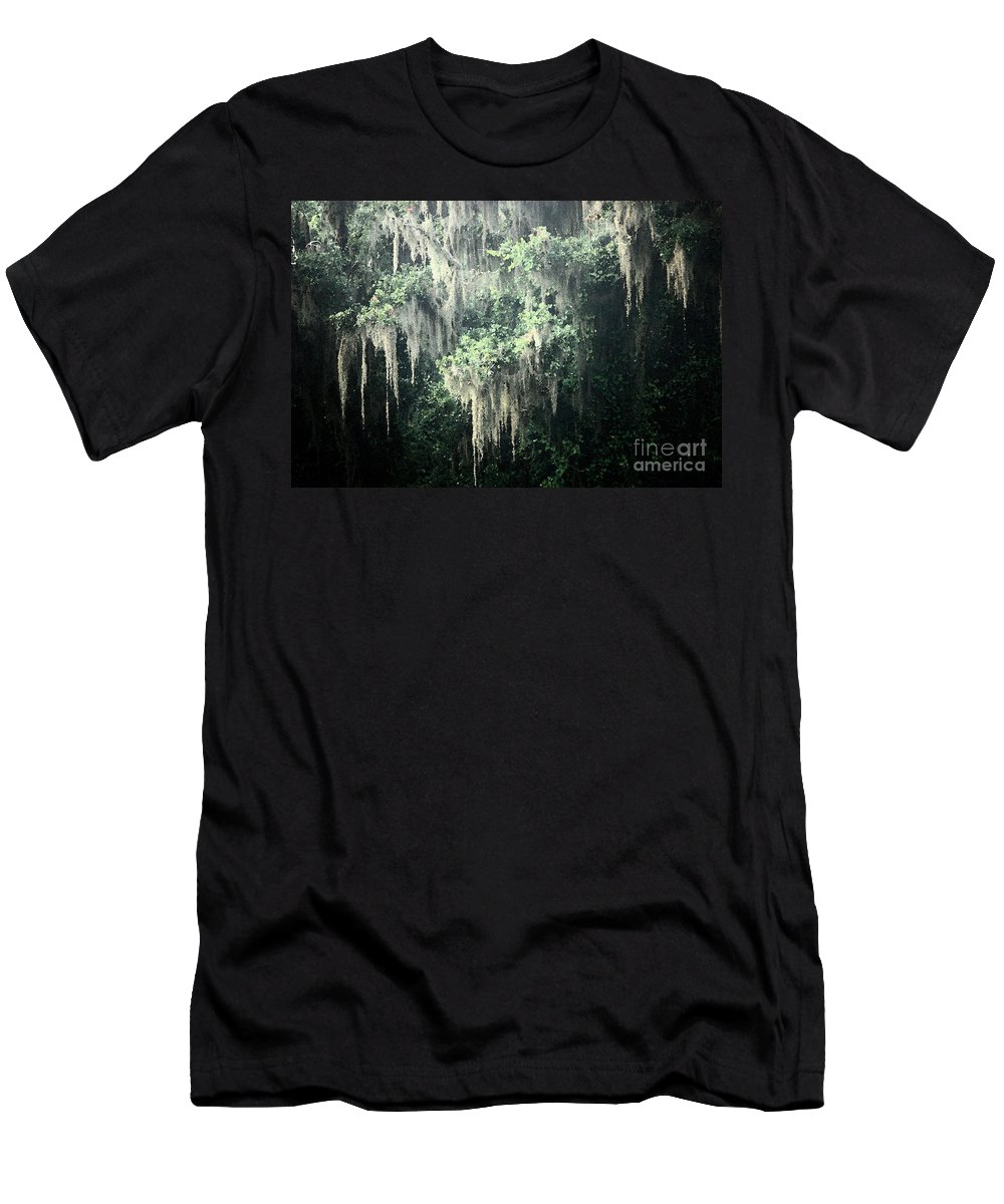 Nature Abstract Men's T-Shirt (Athletic Fit) featuring the photograph Mossy Dream by Carol Groenen