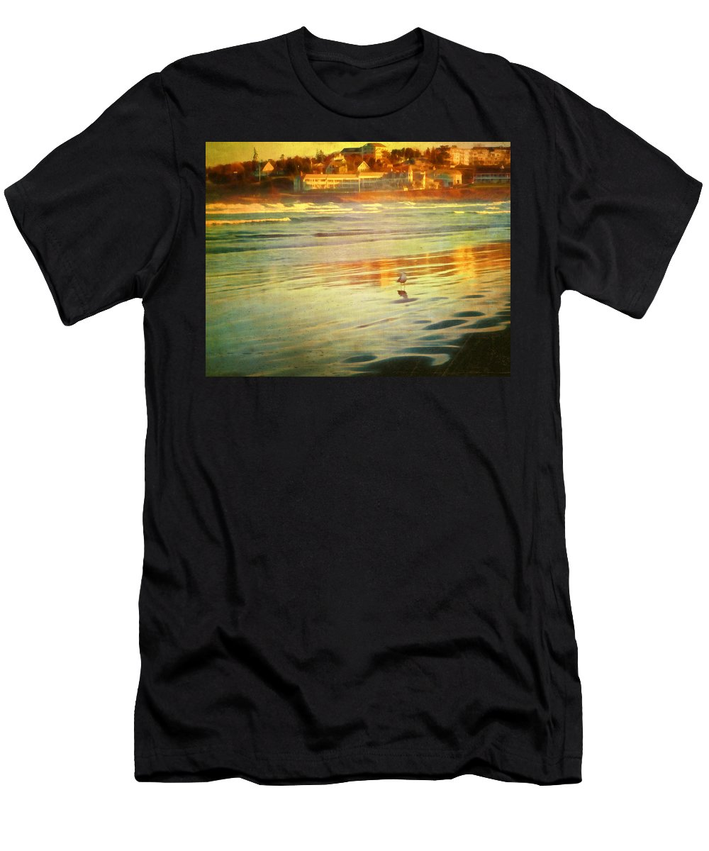 Water Men's T-Shirt (Athletic Fit) featuring the photograph Mostly Maine Xii by Tina Baxter