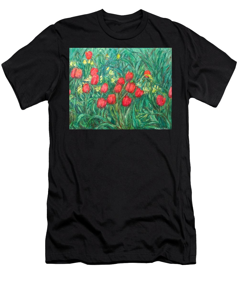 Kendall Kessler T-Shirt featuring the painting Mostly Tulips by Kendall Kessler