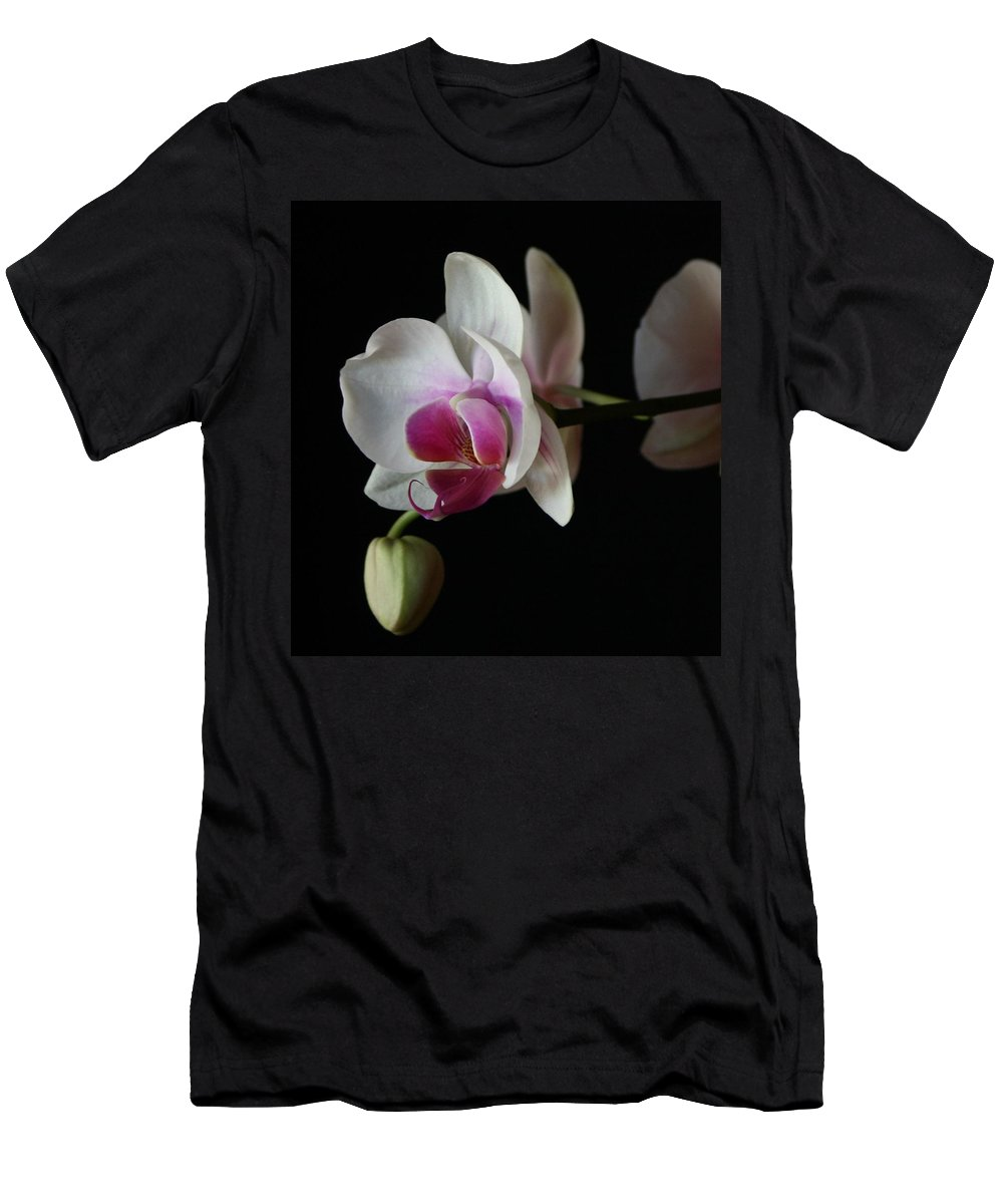 Moth Men's T-Shirt (Athletic Fit) featuring the photograph Moth Orchid 1 by Marna Edwards Flavell