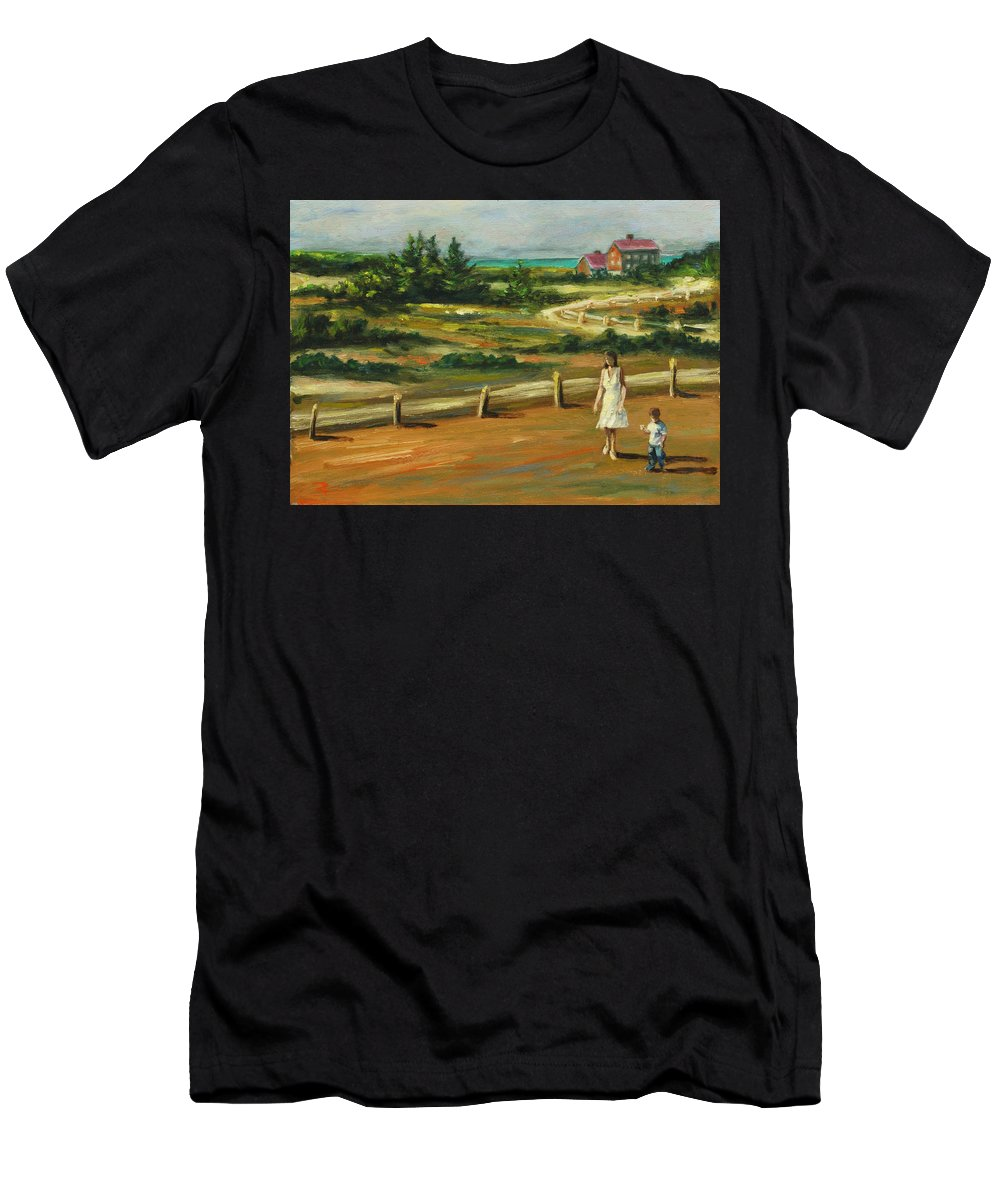 Family Men's T-Shirt (Athletic Fit) featuring the painting Mother And Child by Rick Nederlof