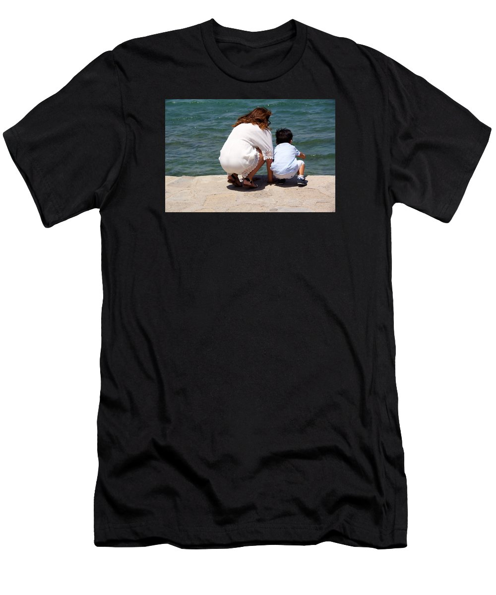 Mother Men's T-Shirt (Athletic Fit) featuring the photograph Mother And Son by Ron Koivisto