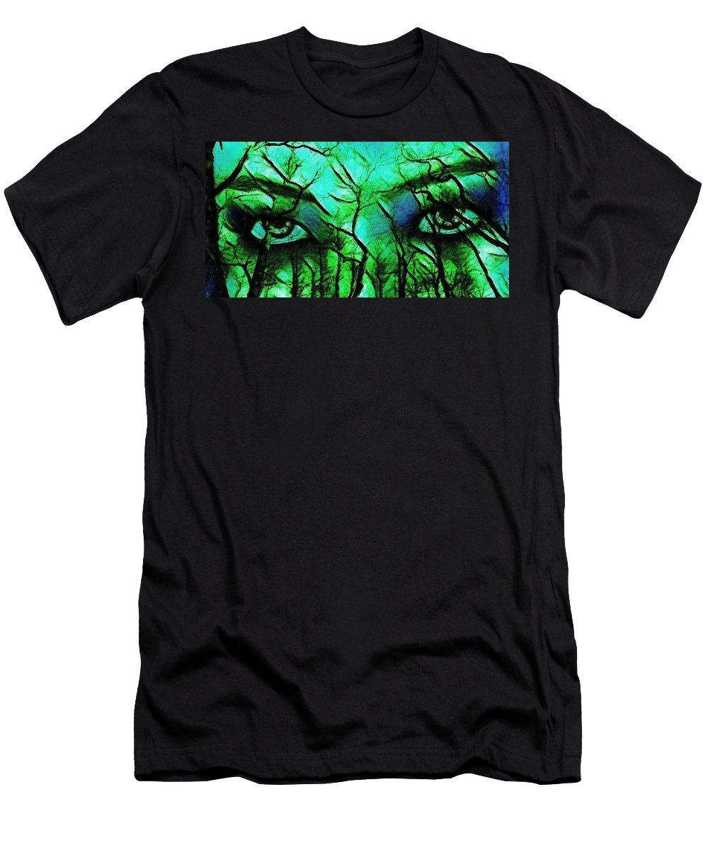 Nature Men's T-Shirt (Athletic Fit) featuring the painting Mother Nature by Mariana Willard