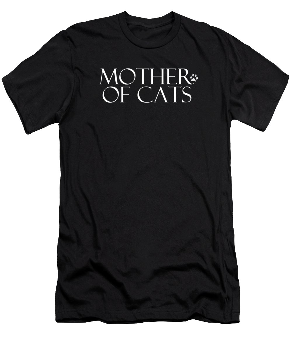 Cat T-Shirt featuring the digital art Mother of Cats- by Linda Woods by Linda Woods