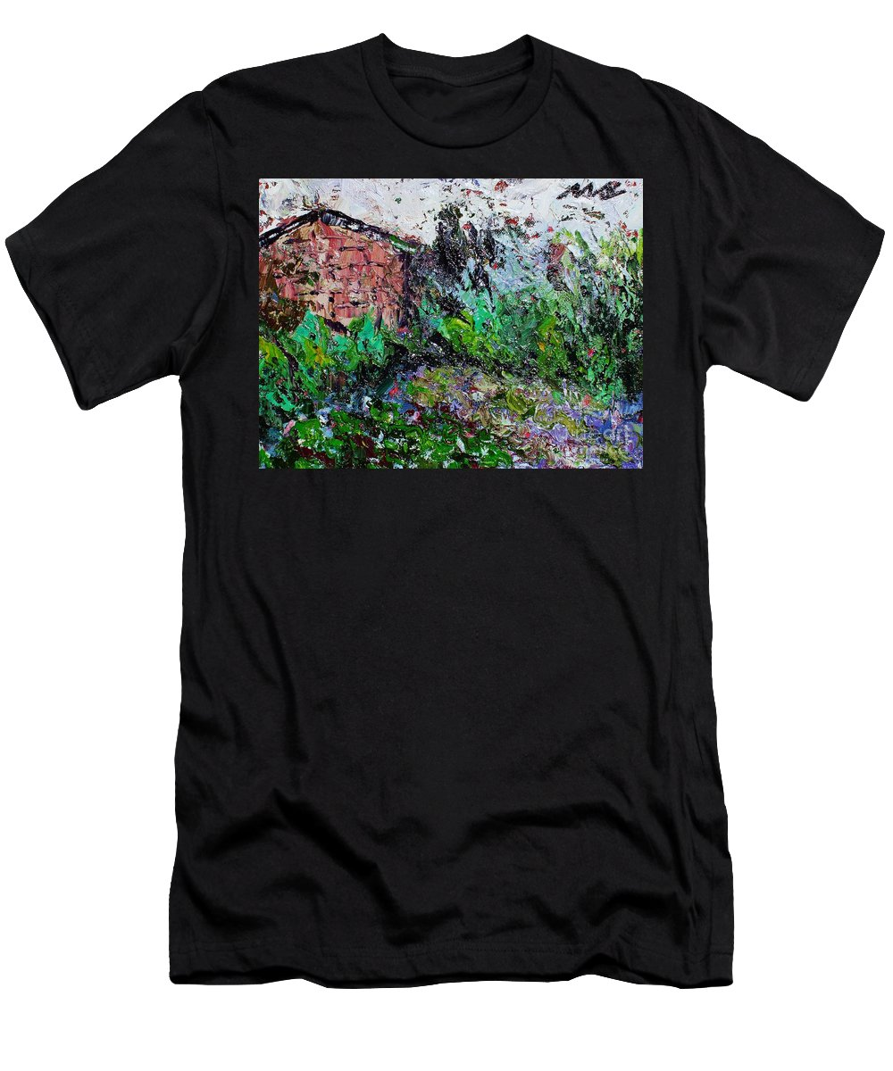 Garden Paintings Men's T-Shirt (Athletic Fit) featuring the painting Mother by Seon-Jeong Kim