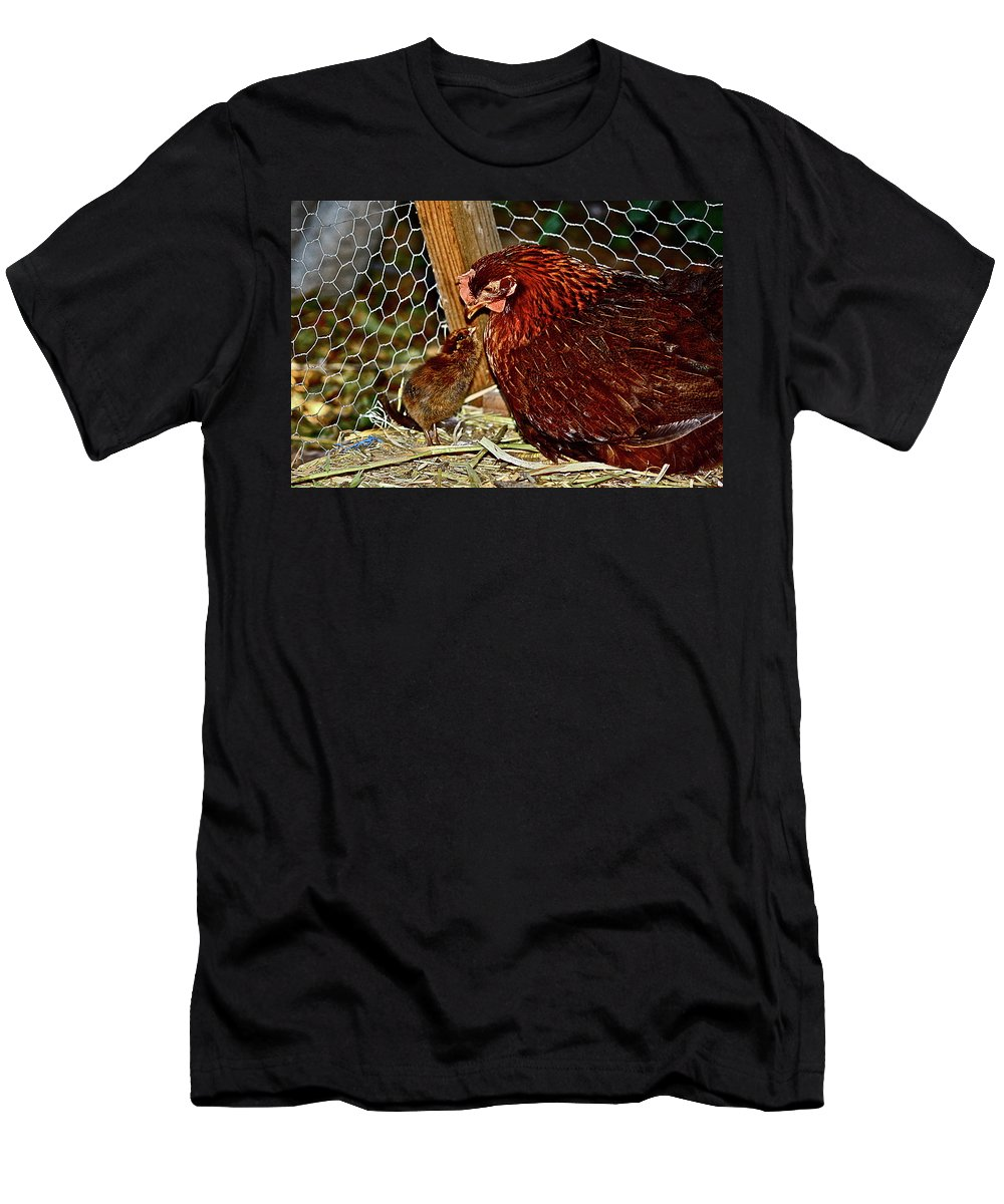Fowl Men's T-Shirt (Athletic Fit) featuring the photograph Mother's Love by Diana Hatcher