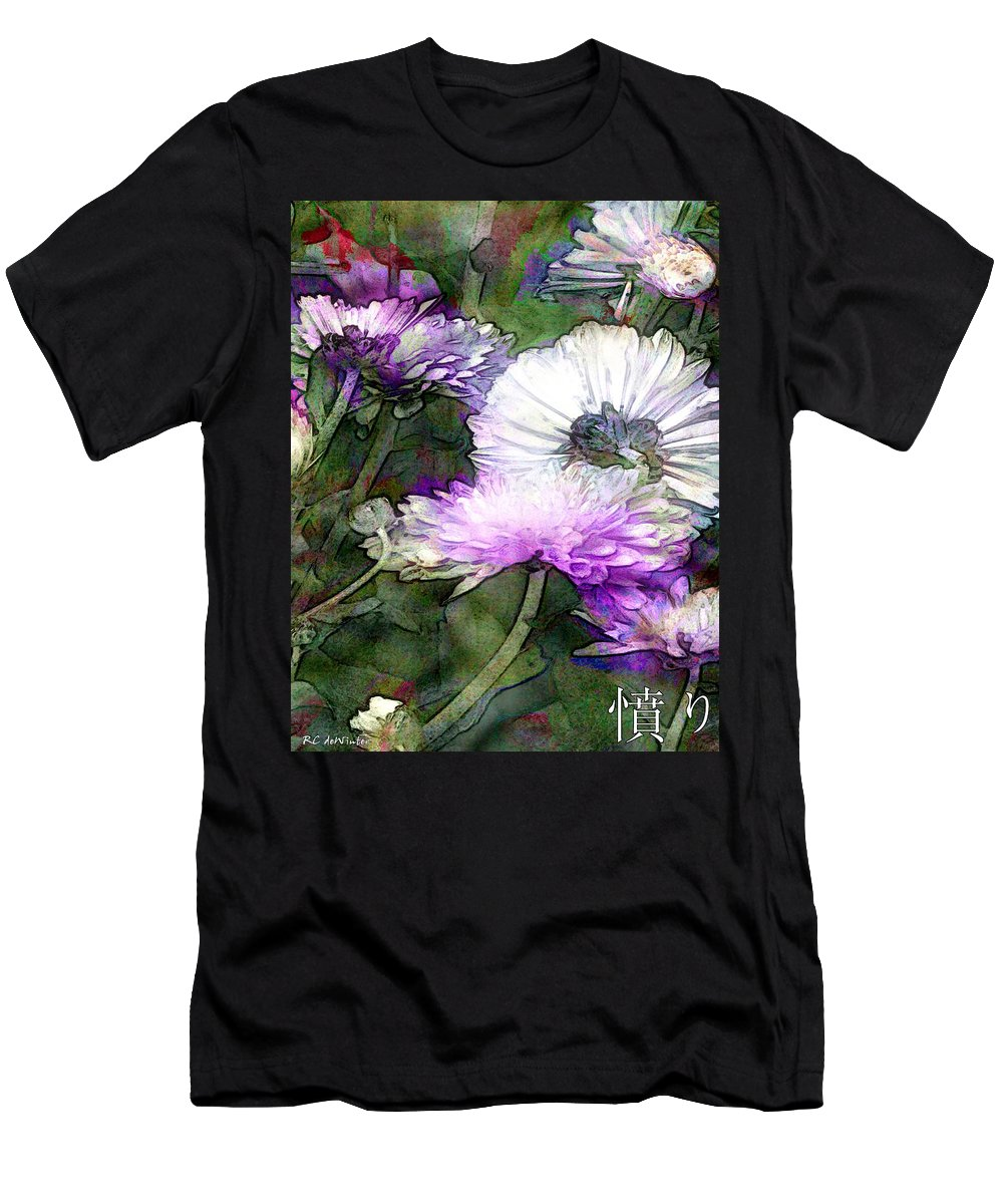 Flowers Men's T-Shirt (Athletic Fit) featuring the painting Motif Japonica No. 12 by RC DeWinter