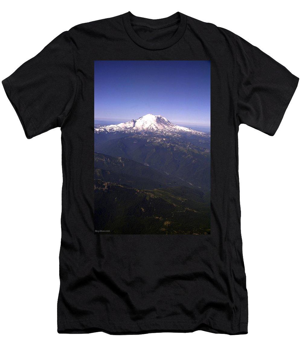 Mount Rainier Men's T-Shirt (Athletic Fit) featuring the photograph Mount Rainier Washington State by Merja Waters