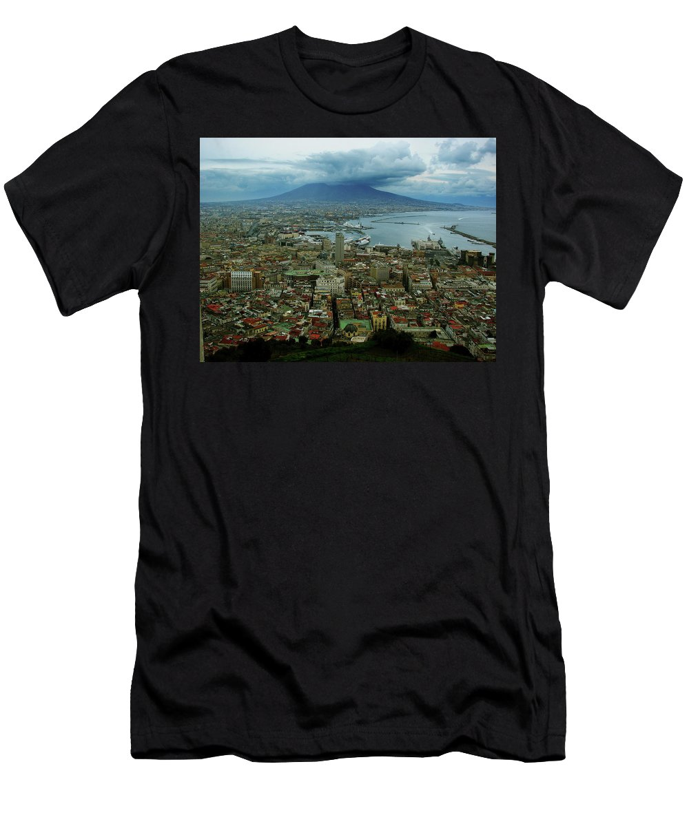 Mount Vesuvius Men's T-Shirt (Athletic Fit) featuring the photograph Mount Vesuvius Naples It by Brett Winn