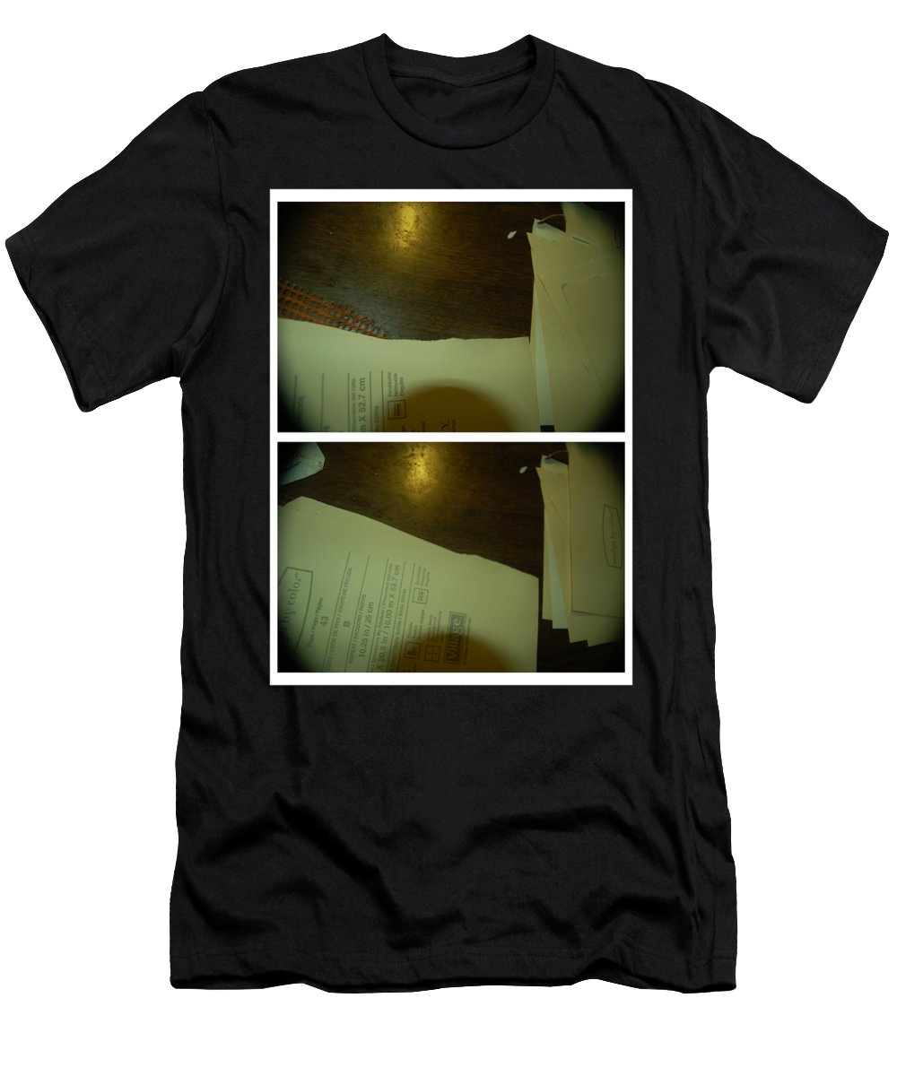 Abstract Men's T-Shirt (Athletic Fit) featuring the photograph Mountain Music by Alwyn Glasgow