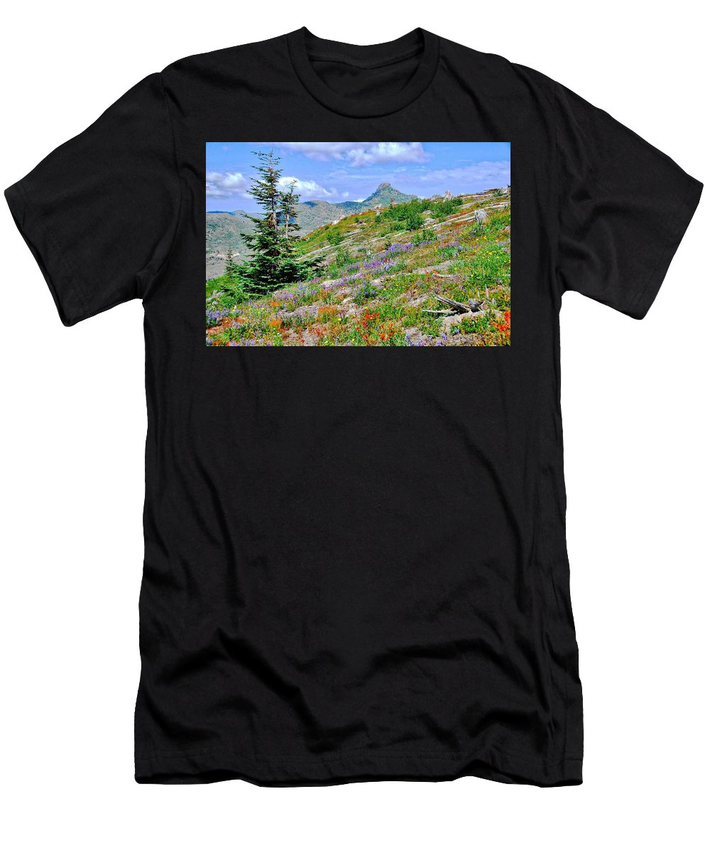St. Helens Men's T-Shirt (Athletic Fit) featuring the photograph Mountain Of Color by David Coleman