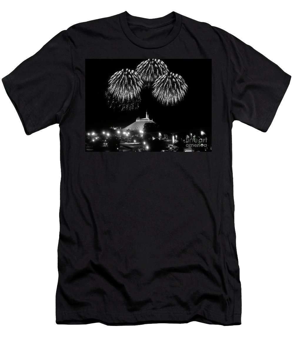 Space Mountain Men's T-Shirt (Athletic Fit) featuring the photograph Mountain Of Space by David Lee Thompson