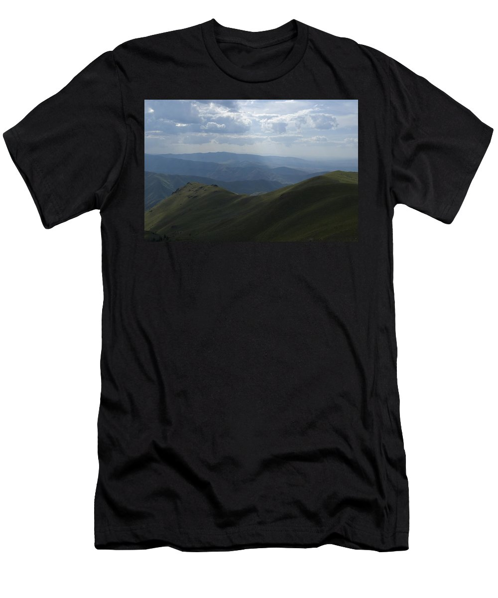 Mountain Men's T-Shirt (Athletic Fit) featuring the photograph Mountain Top 3 by Sara Stevenson