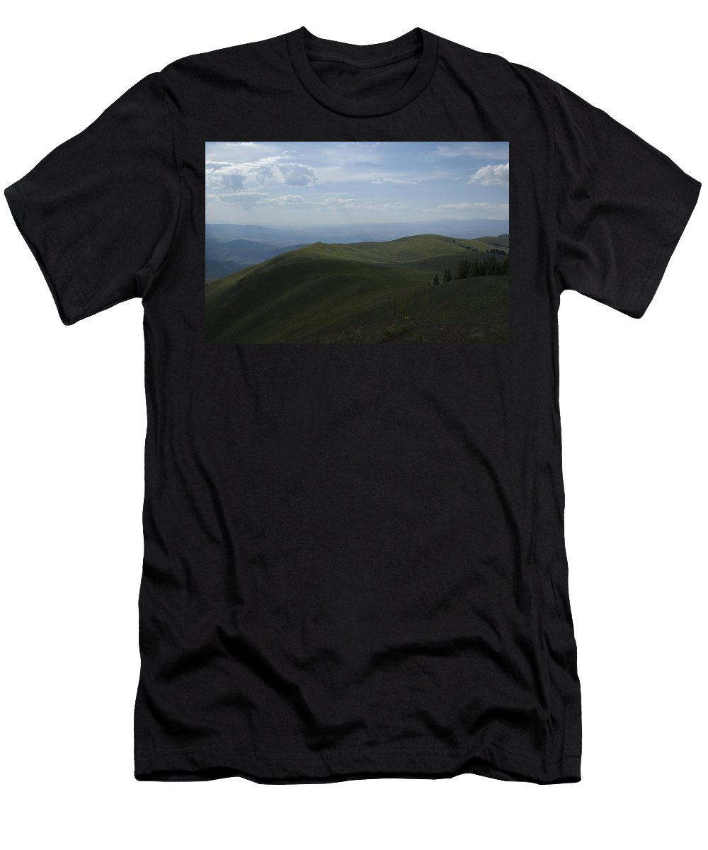 Mountain Men's T-Shirt (Athletic Fit) featuring the photograph Mountain Top 4 by Sara Stevenson