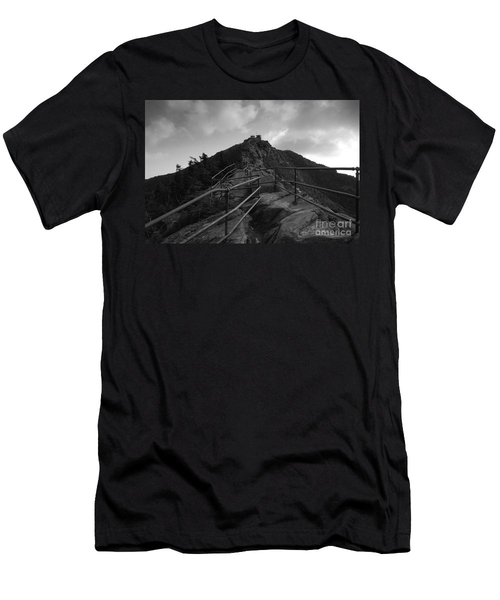 White Face Mountain New York Men's T-Shirt (Athletic Fit) featuring the photograph Mountain Trail by David Lee Thompson