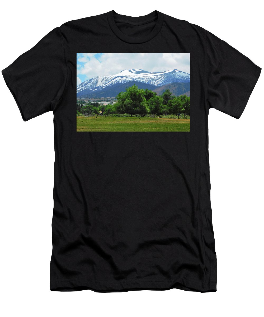 Mountain View - Reno Nevada Men's T-Shirt (Athletic Fit) featuring the photograph Mountain View - Reno Nevada by Emmy Vickers