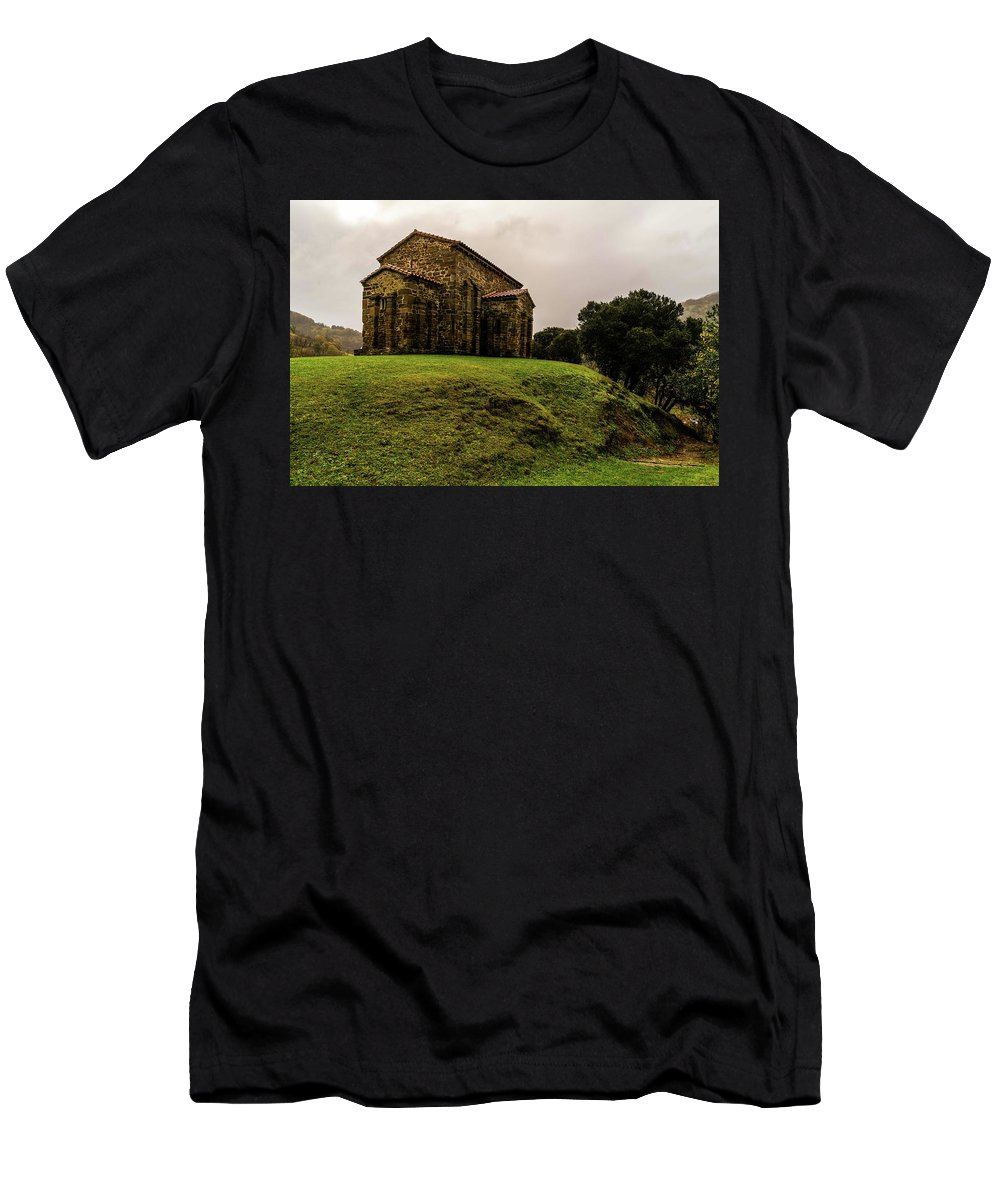 Spain Men's T-Shirt (Athletic Fit) featuring the photograph Mountains And Valleys All Around by Ric Schafer